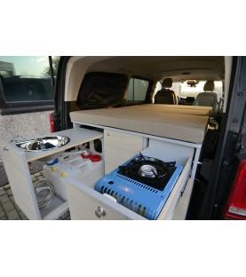 Soluzione letto e cucina per Mercedes Classe V e van